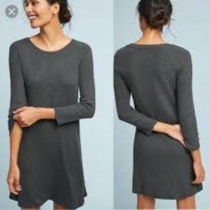 NWT Velvet gray ribbed sweater dress sz S